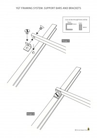 Fig.4. A diagram of the saddle bar bracket fixings for the stained glass frames