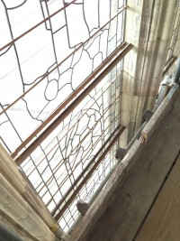 Fig.8. The protective glazing system for York Minster window nII prior to installation of the framed stained glass