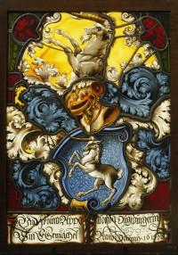 Fig. 3. Heraldic panel of Appollonia Augsburger, 1615. Bern, Bernisches Historisches Museum, inv. no. BHM8858.