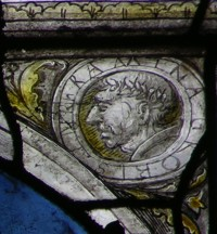 Fig. 4. Cour-sur-Loire, window 5, detail of scene number 5 (actually number 3 according to the legend): detail of Raminagrobis.