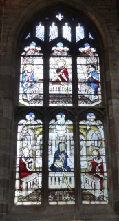 Fig. 4. Ludlow, St Laurence, north-central window of St John's Chapel: Creed (Credo) window. © Author