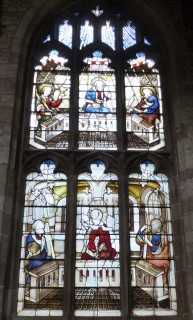 Fig. 5. Ludlow, St Laurence, north-east window of St John's Chapel: Creed (Credo) window. © Author