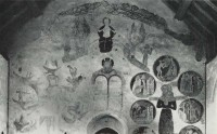 Fig. 9. Trotton Church, Sussex: wall-painting on the west wall, late fourteenth century. Anderson 1971, pl. 46