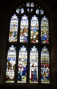 Fig. 19: Ludlow, St Laurence, St John's Chapel: the Palmers' Guild window. © Author