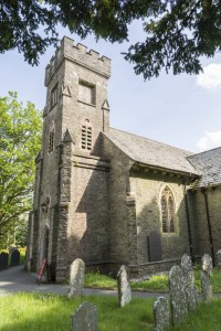 Fig. 2. Church of St Michael, Eglwys Newydd (Hafod, Cwm Ystwyth), designed by James Wyatt (1803), with alterations by Archibald Ritchie (1887). ©Martin Crampin