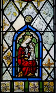 Fig. 5. Harlow, St Mary and St Hugh: nIV 1b, detail of Virgin and Child.