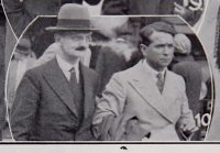 Fig. 1: Sydney Pitcher (on the left), with the composer, Herbert Howells, Cheltenham Chronicle & Gloucester Graphic, 12 September 1931.