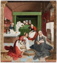 Fig. 6. Jan Rombouts, The Birth of John the Baptist, c.1500–10, Carnegie Museum of Art, Pittsburgh.