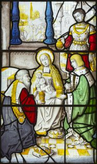 Fig. 11. The Adoration of the Magi, probably 1510–20s, church of St Gwenllwyfo, Llanwenllwyfo. © Martin Crampin