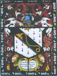Fig. 1. The arms of John Charles Brooke, Somerset Herald, by Jacob Wright of Leeds.
