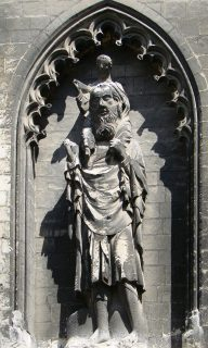 Fig. 10: Sculpture of St Christopher, Amiens Cathedral.