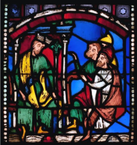 Fig. 1. Seven Sleepers panel before treatment in transmitted light.