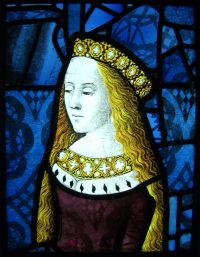 Fig. 11. Princess Cecily from the Royal Window at Canterbury Cathedral, c.1485.