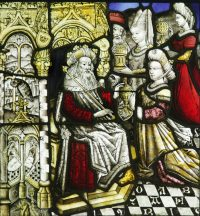 Fig. 12. Solomon receiving the Queen of Sheba, German, late 15th century.