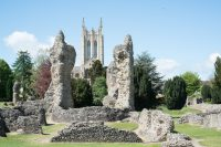 Fig.7. Ruins of Bury St Edmunds Abbey in foreground.