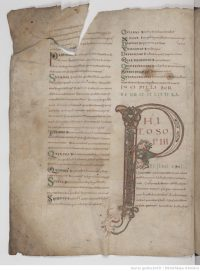 Fig.8. Priscian Grammar, 9th century MS, from the Abbey of Saint-Pierre (Corbie), now Amiens, Bibliothèque municipal, Ms. 425.