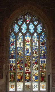 Fig. 1. Tree of Jesse window, from the church of St Vigor at Rouen, now in the north window of the great hall, Highcliffe Castle.