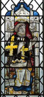 Fig. 1. 15th century stained glass (window nXII 1c), Holy Trinity Church, Long Melford, Suffolk © Chris Parkinson.