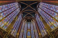 Fig.1. The spectacular and intricate stained glass windows of the Sainte-Chapelle, Paris.