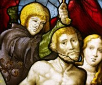Fig. 1. Detail from the Expulsion from Paradise, Church of Saint Firmin at Flavigny-sur-Moselle, Lorraine, 1533, by Valentin Bousch.