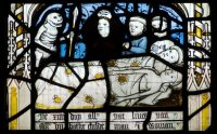 Fig. 2. Detail from the exceptional 'Pricke of Conscience' window, showing the death of all living things, at All Saints North Street.