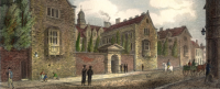 Fig. 1. View of Sidney Sussex College, Cambridge, prior to the works on the gate house of the 1820s.