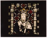 Fig. 7. Bearded head of a king from the great west window of Canterbury Cathedral, 1396-1411.