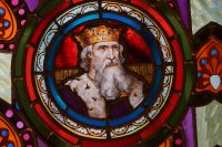 Fig. 3. King Lear, from the smoking room of the Güell Palace (Jordi Bonet).