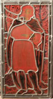 Fig. 8. Reverse view of the Hamlet panel at Tomkinson's Stained Glass © Tomkinson's Stained Glass.