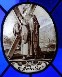 Fig. 4. Roundel painted with an image of St Andrew.