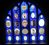 Fig. 6. The Star Chamber window at Strawberry Hill, set with a number of imported heraldic roundels.