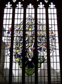 Fig. 1. Ann Sotheran's window in the Ridley Chapel, St Boniface's Church, Bunbury, Cheshire.