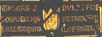 Fig. 13. Norwich, Surrey House: Detail of inscription below arms of Thomas Howard. Mike Dixon.