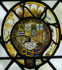 Fig. 17. Norwich Cathedral: Arms of Robert Dudley, Earl of Leicester. Mike Dixon.