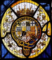 Fig. 18. Norwich Guildhall: Arms of Robert Dudley, Earl of Leicester. Mike Dixon.