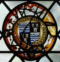 Fig. 19. Norwich Cathedral: Arms of William Cecil, Lord Burleigh. Mike Dixon.