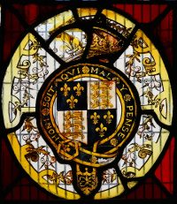 Fig. 20. Norwich Guildhall: Arms of Elizabeth I. Mike Dixon.