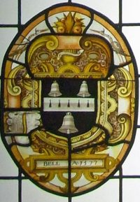 Fig. 35. London, V&A, ex-Beaupré Hall, Outwell: Arms of Bell. CVMA inv. no. 002208.