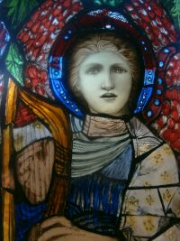 Fig. 2. Detail of panel by Pippa Martin, Inspired by Burne-Jones.