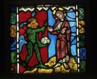 Fig. 6. The First Temptation of Christ, Troyes Cathedral, c. 1170-80 © Victoria & Albert Museum London.