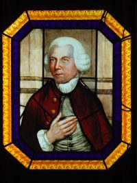 Fig. 1. Peckitt's portrait in stained glass, now in York Art Gallery. Photo: The York Glaziers Trust.