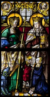 Fig. 1: Saints Margaret and Elizabeth presenting a female donor © The Luhring Augustine Gallery/ Sam Fogg.