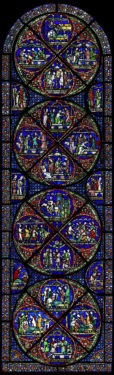Miracle window, Canterbury Cathedral, early 1200s. © The Chapter, Canterbury Cathedral