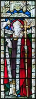 Fig. 3. Shrigley and Hunt, St David, 1907, Church of St Mary, Gladestry east window (Image © Martin Crampin)