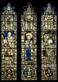 Fig. 1 All Saints North Street, window s6 (after conservation), mostly mid-fifteenth-century glass.