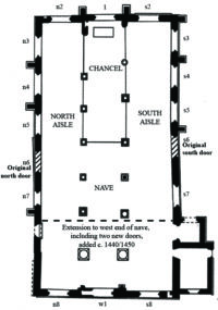 Fig. 2 All Saints North Street, CVMA window plan. (Image © Amanda Daw)