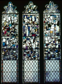 Fig. 3 All Saints North Street, window s5 (before conservation).